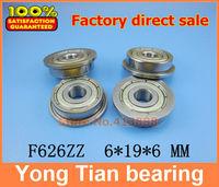 10pcs free shipping flange bushing ball bearings F626ZZ 6*19*6 mm