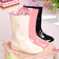2014 Newest Best selling  Fashion women rainboots for lady rubber boots Free shipping 1pair