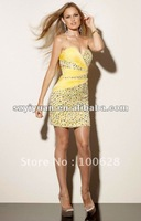 2012 Hot Sale Sweetheart Crystal Short Above-legnth Homecoming Cocktail Evening Dress