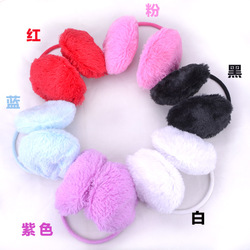 wholesale- children Thermal plush earmuffs autumn and winter thermal chromophous Earmuffs cover earcap(China (Mainland))