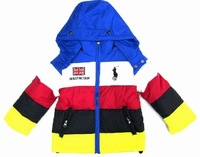 FFree shipping 2012 winter new Male children down coat clothes children down coat casual zipper sweater removable hood