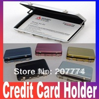 2pcs/lot Password Aluminium Credit Card Holder Mini Briefcase Business Card Case Holder Free shipping