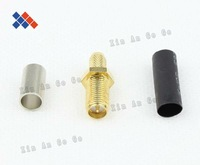 5pcs SMA connector RF adapter RP-SMA female crimping connector for LMR195 RG58 cable Free shipping Free shipping