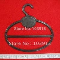 100pcs/Lot  13.5*13.5cm Black Plastic Round Scarf Hangers + Free Shiping