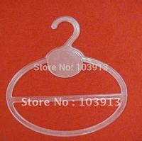 100pcs/Lot  13.5*13.5cm Transparent Plastic Round Scarf Hangers + Free Shiping