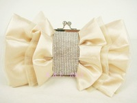 2011 wedding evening bag bow silk clutch diamond-studded evening bag day clutch fashion