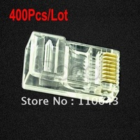 Hot Sale 400Pcs/Lot RJ45 RJ-45 CAT5 Cat5e Cat6 Cable Modular Plug Network Connector  096