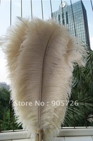 Free Shipping 200pcs/lot 14-15 inches Dyed IVORY Ostrich Feather Plume for wedding centerpiece