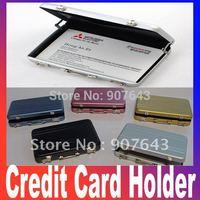 2pcs/lot 2014 New Password Aluminium Credit Card Holder Mini Business Card Case Holder Free shipping