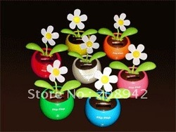 Best selling!! Lovely solar apple flower swing automotive supplies car accessories ornaments toy gift Free shipping,5 pcs/lot(China (Mainland))