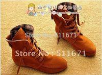 Fashion flat heel boots martin casual boots   X014