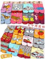 plus thickness  36 pairs/lot -Baby AB Socks Cartoon Prints Princess socks/Infant socks