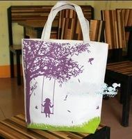 Hot sell 2012 cartoon series canvas bag shoulder bag eco-friendly bag casual women's handbag Free shipping