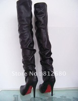 2013 Free shipping  women winter boots genuine leather sexy ladies over knee boots N-2012297