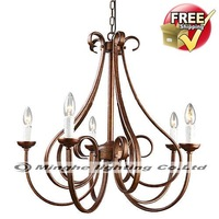 Free Shipping Stylish Chandelier with 5 Lights in Candle feature for Living Room, Bedroom in Candle Feature, Traditional/Classic