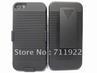 Good quality 100pcs/lot Shell Holster case cover For iPhone 5 Belt Clip,for iphone 5 belt clip cover