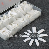 500pcs Whate color False Nail Tips Acrylic Artificial Nail Tips with box for DIY nail decoration manicure NA314B