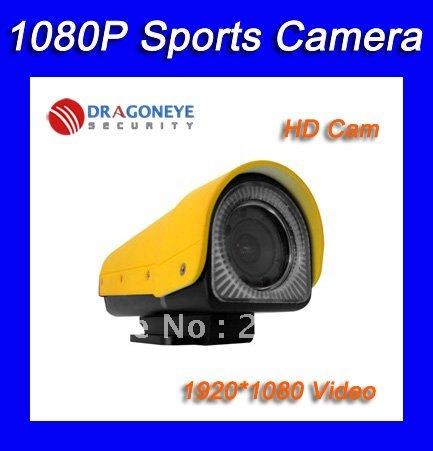 Freeshipping Waterproof 1080p Mini Sports DVR, Helmet Camera, Sports Camera, Portable DVR, 5.0 Megapixel Video Camera Sensor(China (Mainland))