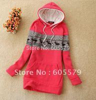 Korean Womens Cold-proof Winter Cotton Jumper Hoodies Outwear jacket coat