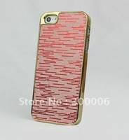 10pcs/lot Luxury Bling Chrome Hard Case Cover fits Apple iPhone 5 5G 5th