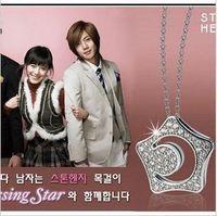 Free shipping, k-pop wholesale kpop full of rhinestones Hana-yori Danshi star Necklace korean korea