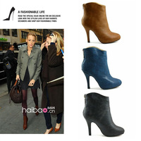 2012 fashion knee-high high-heeled shoes pointed toe boots women's shoes