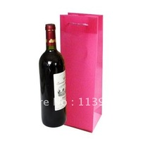 free shippment wholesale 12pieces/lots 40*11*10cm waterproof wine bottle bags wedding party wine bottle gift bags
