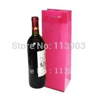 wholesale 12pieces/lots 40*11*10cm waterproof wine bottle bags wedding party wine bottle gift bags