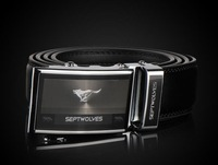 SEPTWOLVES strap genuine leather male belt automatic buckle cowhide belt birthday gift