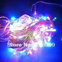 free shipping 10 m 100 lamp RGB LED Christmas lights, be applicable to the holiday decorations 110 v / 220 v + quality assurance