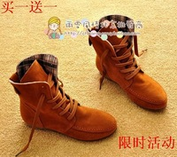 Free shipping autumn and winter , snow boots, flat heel boots ,single and martin boots, casual boots Hot sale