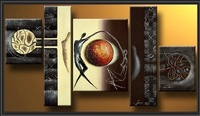 Free Shipping!Modern Oil Painting On Canvas abstract painting Guaranteed 100% Free shipping 5pcs/set  DY-085
