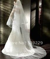 New 2T  3M Elegant  white&ivory wedding  bride veil+Comb    LJ0041