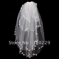 New 4T  Elegant  white&ivory wedding  bride veil+Comb    LJ0015