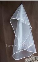 New 1T  Elegant  white&ivory wedding  bride veil+Comb    LJ0014