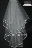 New 2T  Elegant  white&ivory wedding  bride veil+Comb    LJ0020