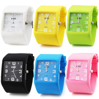 Zgo quartz watch candy color jelly table resin wrist support sports watch silica gel table fashion student table