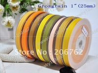 free shipping 1 inch=25mm Grosgrain Ribbon printed ribbon for gift packaging & DIY headband bowknot Clip 100Y/roll