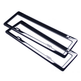 Quality black titanium mirror stainless steel car license plate frame the disassemblability license plate frame license plate