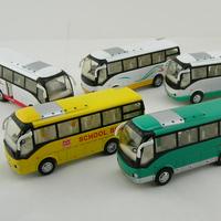 Toy alloy WARRIOR bus mini bus model toy belt acoustooptical 25