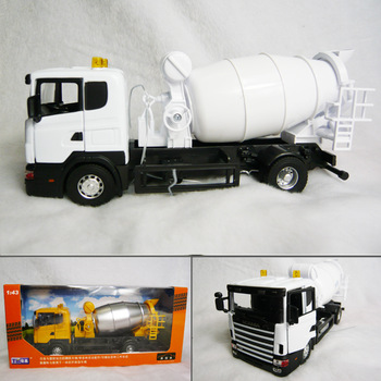 Scania 6 wheel cement mixer truck luxury gift box alloy car model