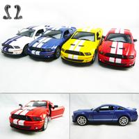 4 soft world FORD cobra shelby gt500 alloy car model