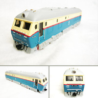 4 domestic acoustooptical nostalgic version 7246 blue alloy model train toy