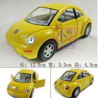 Volkswagen new beetle alloy WARRIOR car model toys soft world kt1 : 32 yellow