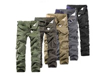 MENS CASUAL MILITARY ARMY CARGO CAMO COMBAT WORK PANTS TROUSERS SIZE / free shipping