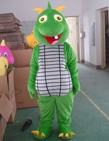 Green Dinosaur Mascot Costume Outfit Suit Fancy Dress SKU-13866052801