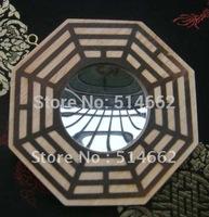 Feng Shui Peach Wood Bagua Mirrors Pakua 4 Inch