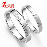 925 pure silver ring female lovers ring male lovers ring pinky ring accessories lettering