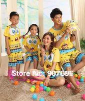 Family Suit Women Men Boys and Girls T Shirt Short Sleeve Pajamas Nightwear Clothes Home  Set Suit #3476