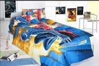 New Beautiful 3PC 100% Cotton Comforter Duvet Doona Cover Sets Twin / Queen Size baby bedding set 3pcs Spider-Man